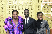 (L-R) Aunjanue Ellis, Ethan Herisse, and Caleel Harris attend the 71st Emmy Awards at Microsoft Theater on September 22, 2019 in Los Angeles, California.