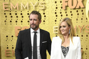(L-R) Jason Jones and Samantha Bee attend the 71st Emmy Awards at Microsoft Theater on September 22, 2019 in Los Angeles, California.