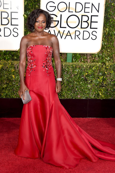 Actress Viola Davis attends the 72nd Annual Golden Globe Awards at The Beverly Hilton Hotel on January 11, 2015 in Beverly Hills, California.