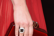 Actress Natalie Dormer, purse detail, attends the 73rd Annual Golden Globe Awards held at the Beverly Hilton Hotel on January 10, 2016 in Beverly Hills, California.