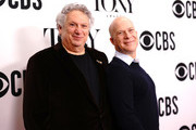 Harvey Firestein and Richie Jackson attend The 73rd Annual Tony Awards Meet The Nominees Press Day on May 01, 2019 in New York City.