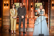 Tina Fey and Jake Gyllenhaal present the Best Performance by an Actress in a Featured Role in a Play award to Celia Keenan-Bolger for To Kill a Mockingbird onstage during the 2019 Tony Awards at Radio City Music Hall on June 9, 2019 in New York City.