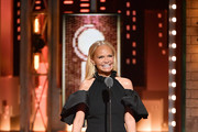 Kristin Chenoweth presents an award onstage during the 2019 Tony Awards at Radio City Music Hall on June 9, 2019 in New York City.
