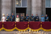 (L-R) Sophie, Countess of Wessex, Prince Edward, Earl of Wessex, Prince William, Duke of Cambridge, Queen Elizabeth II, Prince Philip, Duke of Edinburgh, Prince Andrew, Duke of York, Prince Edward, Duke of Kent, Prince Michael of Kent, Princess Alexandra, and Prince Richard, Duke of Gloucester watch the flypast from the balcony of Buckingham Palace to commemorate the  75th Anniversary Of The Battle Of Britain on July 10, 2015 in London, England.