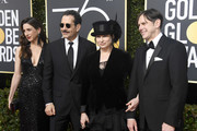 (L-R) Actors Marin Hinkle and Tony Shalhoub, producers Amy Sherman-Palladino and Daniel Palladino attend The 75th Annual Golden Globe Awards at The Beverly Hilton Hotel on January 7, 2018 in Beverly Hills, California.