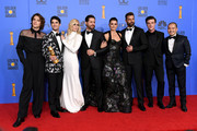 Outstanding Limited Series award for 'The Assassination of Gianni Versace: American Crime Story' winners, (L-R) Cody Fern, Judith Light, Edgar Ramirez, Darren Criss, Penelope Cruz, Ricky Martin, Finn Wittrock, and Jon Jon Briones pose in the press room during the 76th Annual Golden Globe Awards at The Beverly Hilton Hotel on January 6, 2019 in Beverly Hills, California.