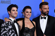 Outstanding Limited Series award for 'The Assassination of Gianni Versace: American Crime Story' winners, (L-R) Darren Criss, Penelope Cruz, and Ricky Martin pose in the press room during the 76th Annual Golden Globe Awards at The Beverly Hilton Hotel on January 6, 2019 in Beverly Hills, California.
