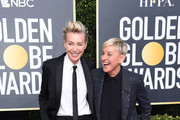 (L-R) Portia de Rossi and Ellen DeGeneres attend the 77th Annual Golden Globe Awards at The Beverly Hilton Hotel on January 05, 2020 in Beverly Hills, California.