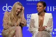 Presenters Dakota Fanning, and Susan Kelechi Watson attend the 77th Annual Golden Globe Awards Nominations Announcement at The Beverly Hilton Hotel on December 9, 2019 in Beverly Hills, California.