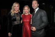 (L-R) Abbie Cornish, Mecki Dent and Jai Courtney attend the 7th AACTA International Awards at Avalon Hollywood in Los Angeles on January 5, 2018 in Hollywood, California.