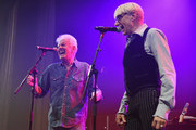 Singer/songwriter Graham Nash (L) and Will Lee perform onstage during The 7th Annual Little Kids Rock Benefit at Manhattan Center Grand Ballroom on October 20, 2015 in New York City.
