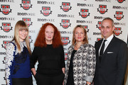 (L-R) Amy Astley, Grace Coddington, Eve MacSweeney and Jason Wagenheim attend Teen Vogue Fashion University at the Hudson Theatre on October 20, 2012 in New York City.