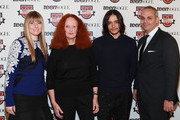 (L-R) Amy Astley, Grace Coddington and Designer Olivier Theyskens and Jason Wagenheim attend Teen Vogue Fashion University at the Hudson Theatre on October 20, 2012 in New York City.