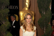 Actress Jennifer Lawrence arrives at the 83rd Academy Awards nominations luncheon held at the Beverly Hilton Hotel on February 7, 2011 in Beverly Hills, California.
