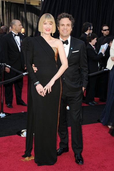 Actor Mark Ruffalo (R) and actress Sunrise Coigney arrives at the 83rd Annual Academy Awards held at the Kodak Theatre on February 27, 2011 in Hollywood, California.