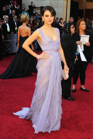 Actress Mila Kunis arrives at the 83rd Annual Academy Awards held at the Kodak Theatre on February 27, 2011 in Hollywood, California.
