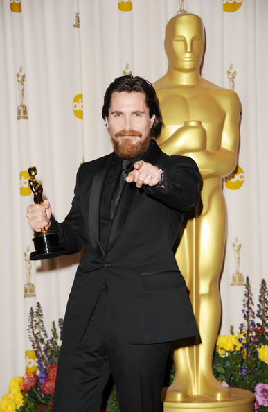 Actor Christian Bale, winner of the award for Best Actor in a Supporting Role for 'The Fighter', poses in the press room during the 83rd Annual Academy Awards held at the Kodak Theatre on February 27, 2011 in Hollywood, California.