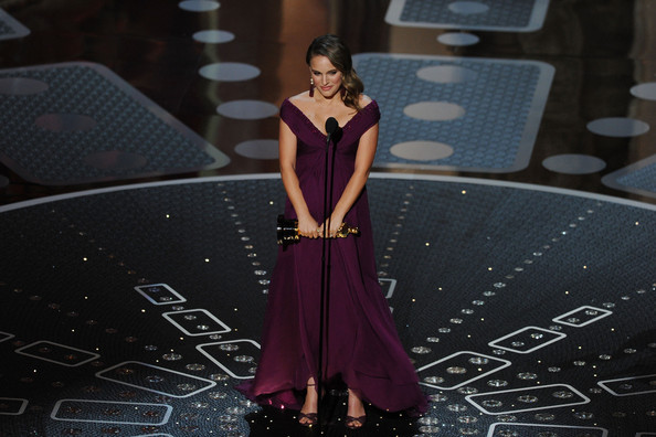 Actress Natalie Portman accepts the award for Best Performance by an Actress in a Leading Role for the 'Black Swan' onstage during the 83rd Annual Academy Awards held at the Kodak Theatre on February 27, 2011 in Hollywood, California.