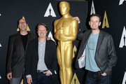 (L-R) Producer Roy Conli, and directors Don Hall and Chris Williams attend the 88th annual Academy Awards Oscar Week celebrates Animated Features at the Academy of Motion Picture Arts and Sciences on February 25, 2016 in Beverly Hills, California.