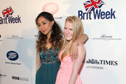 Singers Jessica Sanchez (L) and Hollie Cavanagh attend the 8th Annual BritWeek Launch Party at a private residence on April 22, 2014 in Los Angeles, California.