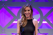 Presenter Miss USA Olivia Jordan speaks onstage at The 8th Annual Shorty Awards at The Times Center on April 11, 2016 in New York City.
