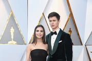Violetta Komyshan (L) and Ansel Elgort attend the 90th Annual Academy Awards at Hollywood & Highland Center on March 4, 2018 in Hollywood, California.