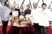 Wolfgang Puck (2nd from L) attends the 90th Annual Academy Awards at Hollywood & Highland Center on March 4, 2018 in Hollywood, California.