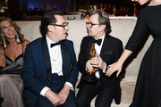 "Director Joe Wright (L) and Gary Oldman, winner of  Best Actor for ""Darkest Hour,"" attend the 90th Annual Academy Awards Governors Ball at Hollywood & Highland Center on March 4, 2018 in Hollywood, California."