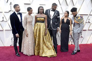 (L-R) Michael B. Jordan, Letitia Wright, Danai Gurira, Winston Duke, Zinzi Evans and Ryan Coogler  attends the 91st Annual Academy Awards at Hollywood and Highland on February 24, 2019 in Hollywood, California.