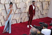 Laura Harrier and Stephan James attends the 91st Annual Academy Awards at Hollywood and Highland on February 24, 2019 in Hollywood, California.