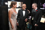 In this handout provided by A.M.P.A.S., Amandla Stenberg and John Lewis pose backstage during the 91st Annual Academy Awards at the Dolby Theatre on February 24, 2019 in Hollywood, California.