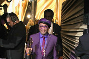 In this handout provided by A.M.P.A.S., Spike Lee poses with the Adapted Screenplay award for 'BlacKkKlansman' backstage during the 91st Annual Academy Awards at the Dolby Theatre on February 24, 2019 in Hollywood, California.