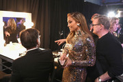 In this handout provided by A.M.P.A.S., Jennifer Lopez poses backstage during the 91st Annual Academy Awards at the Dolby Theatre on February 24, 2019 in Hollywood, California.