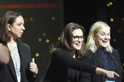 (L-R) Presenters Maya Rudolph, Tina Fey, and Amy Poehler rehearse for the 91st Annual Academy Awards at Hollywood and Highland on February 23, 2019 in Hollywood, California.