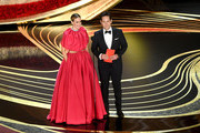 (L-R) Sarah Paulson and Paul Rudd speak onstage during the 91st Annual Academy Awards at Dolby Theatre on February 24, 2019 in Hollywood, California.