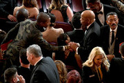 (L-R) Pharrell Williams and U.S. Representative John Lewis attend the 91st Annual Academy Awards at Dolby Theatre on February 24, 2019 in Hollywood, California.