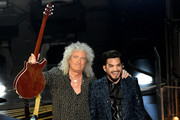 Brian May (L) of Queen and Adam Lambert perform onstage during the 91st Annual Academy Awards at Dolby Theatre on February 24, 2019 in Hollywood, California.