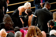 (L-R) Lady Gaga and Irina Shayk during the 91st Annual Academy Awards at Dolby Theatre on February 24, 2019 in Hollywood, California.
