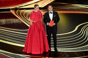 Retransmission with alternate crop.) (L-R) Sarah Paulson and Paul Rudd speak onstage during the 91st Annual Academy Awards at Dolby Theatre on February 24, 2019 in Hollywood, California.
