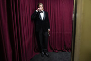 In this handout photo provided by A.M.P.A.S. Brad Pitt stands backstage during the 92nd Annual Academy Awards at the Dolby Theatre on February 09, 2020 in Hollywood, California.