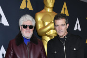 (L-R) Pedro Almodovar and Antonio Banderas attend Oscars Week: International Feature Film at the Samuel Goldwyn Theater on February 06, 2020 in Beverly Hills, California.