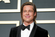 """Brad Pitt, winner of the Actor in a Supporting Role award for """"Once Upon a Time...in Hollywood"""" poses in the press room during the 92nd Annual Academy Awards at Hollywood and Highland on February 09, 2020 in Hollywood, California."""