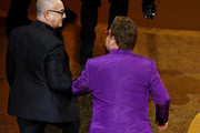 (L-R) Bernie Taupin and Elton John accept the Music - Original Song - award for 'I'm Gonna Love Me Again' from 'Rocketman' onstage during the 92nd Annual Academy Awards at Dolby Theatre on February 09, 2020 in Hollywood, California.