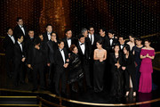 'Parasite' cast and crew such as Cho Yeo-jeong, Park So-dam, Choi Woo-shik, Kang-Ho Song,Yang Jin-mo, Jin Won Han, Kwak Sin-ae, Ha-jun Lee, Yang-kwon Moon, Kang-ho Song, Yeo-jeong Jo, Bong Joon-ho, and Sun-kyun Lee accept the Best Picture award onstage during the 92nd Annual Academy Awards at Dolby Theatre on February 09, 2020 in Hollywood, California.