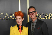 (L-R) Sandy Powell and Christopher Peterson attends the 92nd Oscars Nominees Luncheon on January 27, 2020 in Hollywood, California.
