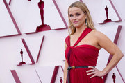 LOS ANGELES, CALIFORNIA – APRIL 25: Reese Witherspoon attends the 93rd Annual Academy Awards at Union Station on April 25, 2021 in Los Angeles, California.