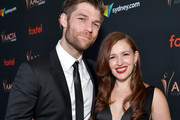 (L-R) Liam McIntyre and Erin Hasan attend the 9th Annual Australian Academy Of Cinema And Television Arts (AACTA) International Awards at SkyBar at the Mondrian Los Angeles on January 03, 2020 in West Hollywood, California.