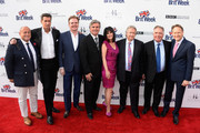 (L-R) BAFTA LA Chairman of the Board Nigel Daly, producer Francis O'Toole, designer Christopher Guy, Britweek Board of Directors' Bob Pierce and Sharon Harroun Pierce, Mike Kreisler, Paul Wright, and British Consul General in Los Angeles Chris O'Connor arrive at the 9th Annual BritWeek launch party at British Consul General's Residence on April 21, 2015 in Los Angeles, California.