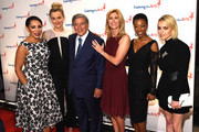 Selenis Leyva, Taylor Schilling, Tony Bennett, Susan Benedetto, Samira Wiley and Taryn Manning attend the 9th Annual Exploring The Arts Gala founded by Tony Bennett and his wife Susan Benedetto at Cipriani 42nd Street on September 28, 2015 in New York City.
