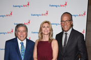 Tony Bennett, ETA Co-Founder & Board President Susan Benedetto and Lester Holt attend the 9th Annual Exploring The Arts Gala founded by Tony Bennett and his wife Susan Benedetto at Cipriani 42nd Street on September 28, 2015 in New York City.